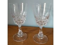 A Pair of Patterned Wine Glasses in Good Used Condition