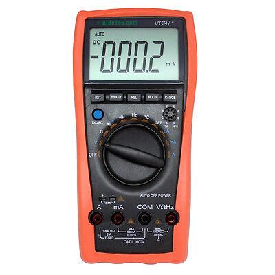 AideTek VC97 3999B LCD Auto range multimeter Capacitance Resistance diode Temp