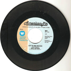 Arlo Guthrie-City Of New Orleans b/w Alice's Rock And Roll Restaurant 45