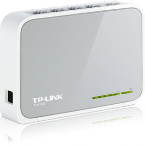 TP-LINK 5 Port Fast Ethernet 10/100Mbps Network Switch Desktop RJ45 - TL-SF1005D