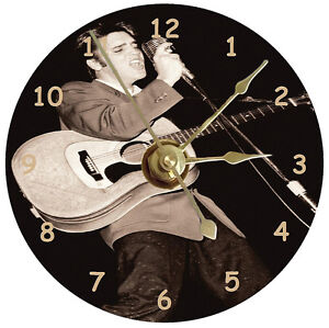 New Elvis Presley Singing Cd Clock Ebay