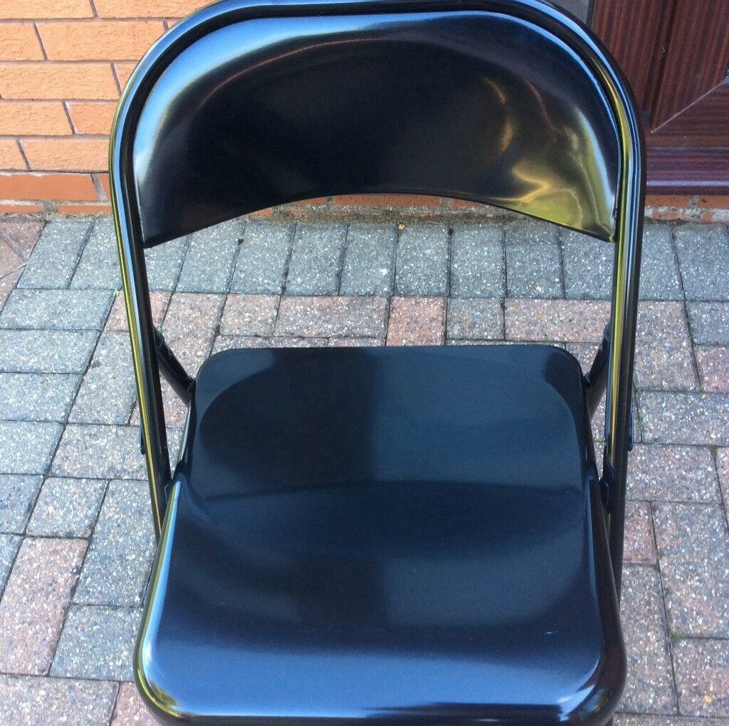 Black habitat Macadam Folding Chairs x 4