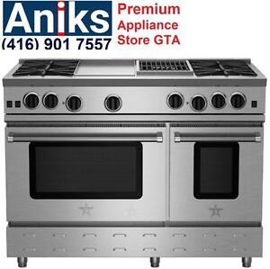 BlueStar RNB484GCBV2 48in Gas Range Reg $14999 Sale $10499 call(416) 901 7557.http://www.aniksappliances.com/