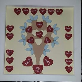 Personalised hand made clay pictures