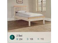 New: Solid Oak Single Bed
