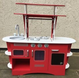 Early Learning Centre Childs Play Kitchen Wooden Red