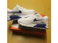 Brand New With Tags Men's Nike Airmax White/Blue Size 7