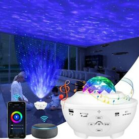LED Starry Night light Projector 10 Modes,Timer, Speaker, Bluetooth 360° Rotating