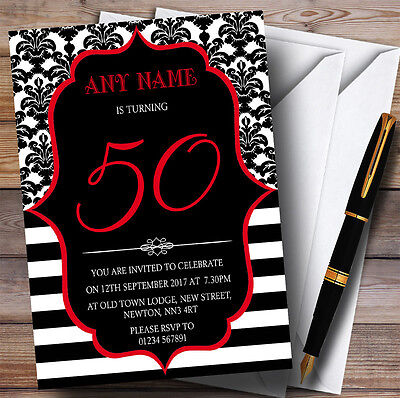 0th Personalised Birthday Party Invitations (Vintage 50th Birthday Party)