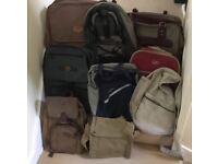 Various rucksacks and shoulder bags