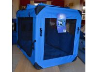 Pet Gear Generation II Deluxe Portable Soft Crate, Large, Sky Blue £40 ono