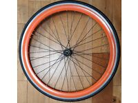 Bicycle Front Wheel 700 x 23C For Rim Brakes From Fixie Bike With Kenda Tyre