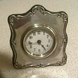 Art Nouveau Sterling Silver Clock