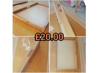 John Lewis Solid Pine wood baby changing table