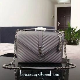Grey YSL Quilted Bag