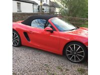 Guards Red Porsche Boxster 2.7 2015