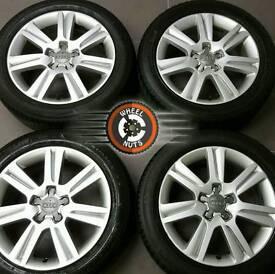 "##CHEAP## 17"" Genuine Audi A4 alloys, good condition, 4 premium tyres."