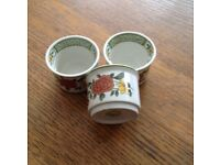Villeroy and Boch, Summer Day egg cups, set of 3