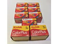 Colour print film Kodak and Agfa 36 exposures outdated Lomo. COLLECTION only
