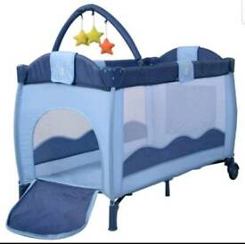 Baby travel cot with a free added mattress