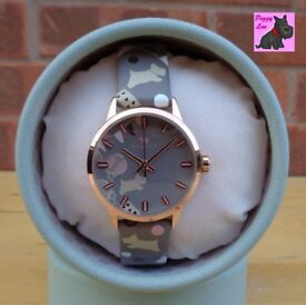Radley RY2068 Ladies 'Circus Print' Taupe Leather Strap Watch – RRP £80
