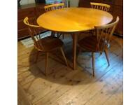 Ercol Windsor Drop leaf Dining Table Vintage Retro Mid Century Modern - Delivery Available
