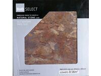 72 slate brown colour, 30cm by 30cm, self-adhesive vinyl floor tiles - 12 boxes (6 tiles in box).