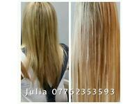 Certificated hair extensions stylist MILTON KEYNES micro rings, keratin glue, shrinkies