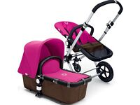 Bugaboo Hot Pink 3pc Canvas Tailored Fabric Set