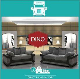 🏻New 2 Seater £229 3 Dino £249 3+2 £399 Corner Sofa £399-Brand Faux Leather & Jumbo Cord𠇄H8