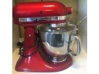 Kitchenaid 5KSM156PSBCA Candy Apple Artisan Stand Mixer (ex display -minor scratch mark near hinge)