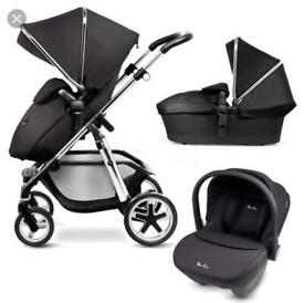 Baby Jogger City Select Pushchair With Extra Seat Kit And Carry Cot