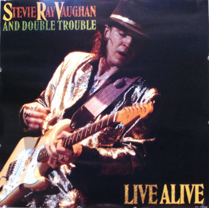 StevieRayVaughan/DoubleTrouble/LiveAliveMusicLithograph