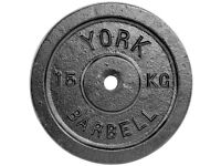 Never used single cast iron disc - YORK Fitness - 15 KG