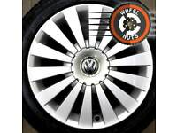 "17"" Genuine VW Highline alloys perfect cond premium tyres."