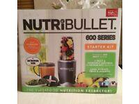 NUTRIBULLET STARTER KIT - GRAPHITE GREY - BRAND NEW IN BOX.