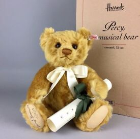 TWEED ROOSEVELT SIGNED STEIFF -PERCY- LTD ED' MUSICAL TEDDY BEAR 661211 -BOXED-