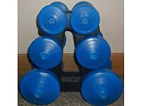 used York Dumbbell Weight Set and Stand