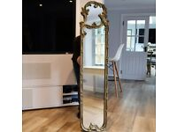 """ANTIQUE STYLE ORNATE GOLD CARVED FRAME WALL MIRROR SHABBY CHIC FRENCH W12""""x H61"""