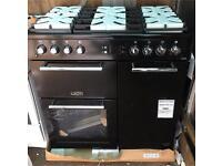 FLAVEL MLN9FRK 90 cm Dual Fuel Range Cooker - Black. £599.99