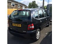 Renault scenic 1.6 petrol black long MOT!! Offers considered!
