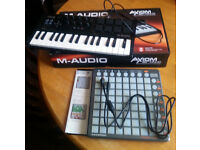M-Audio Axiom Air Mini 32 Midi Keyboard & Novation Launchpad S USB MIDI Controller Ableton Live