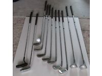 11 golf clubs for sale, good condition