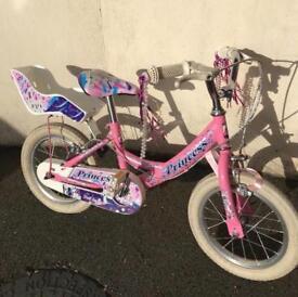 Girls Bike - Princess Bike 14inch (age 3-5)