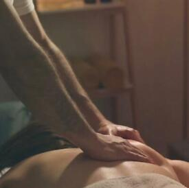 Relaxing massage by attractive male for ladies