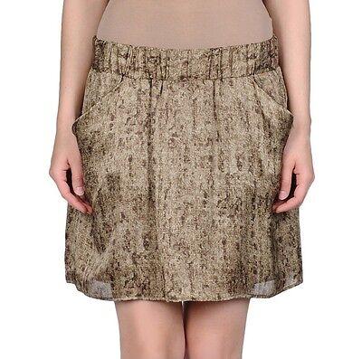 Michael Kors Above Knee Mini Skirt Hemp/Beige/Khaki/Brown 10 Nwt $79