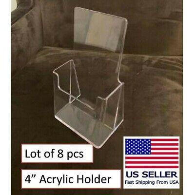 Acrylic Brochure Menu Holder 4 Inch 8 Pcs Counter Top Trifold