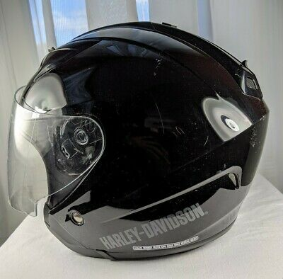 HARLEY DAVIDSON HD-J1V Helmet Full Face Sun Visor Size Medium Black