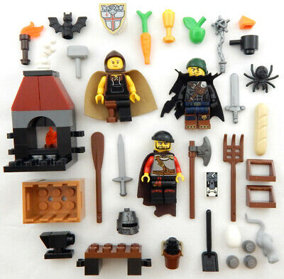 NEW MEDIEVAL LEGO PEASANT MEN MINIFIG LOT figures minifigures castle people