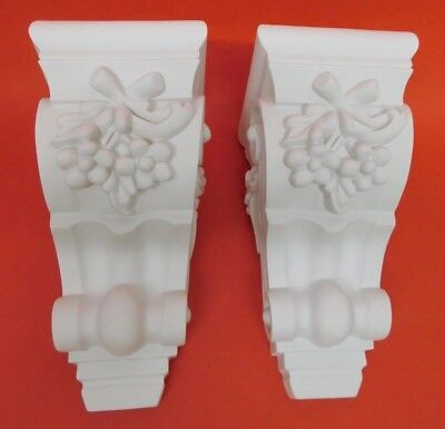 Pair of Corbels -  Resin - Not Polystyrene  - ORIA 240MM X 120MM X 140MM